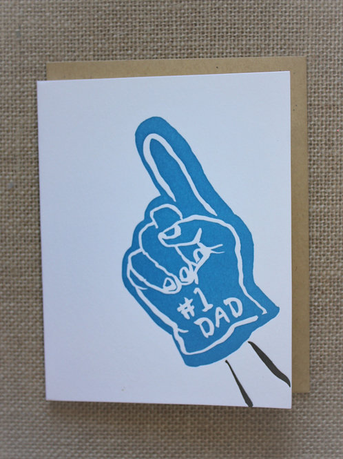 Number One Dad - Egg Press Greeting Card