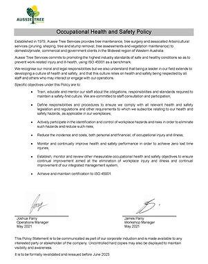 ATS-OHS-POL-03 Policy Occupational Healt
