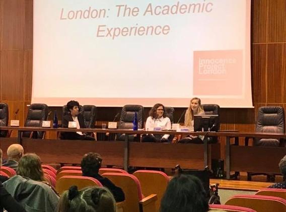 Fatimazahra Dehbi & Ashlie Snelling presenting at the European Innocence Network Conference Barcelona in 2018