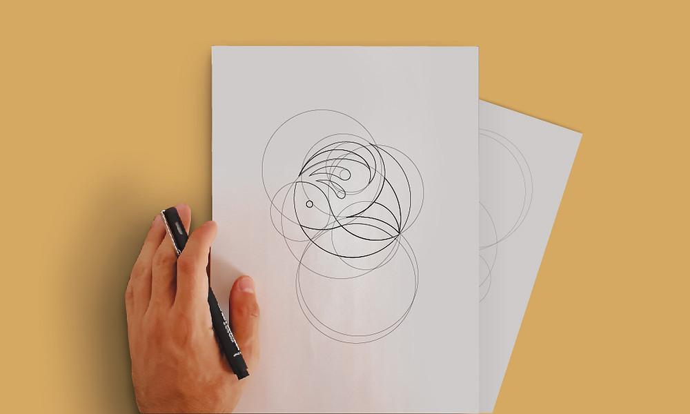 construção de identidade visual, marca, criação, logo, logotipo, logomarca. Ateliê de design.