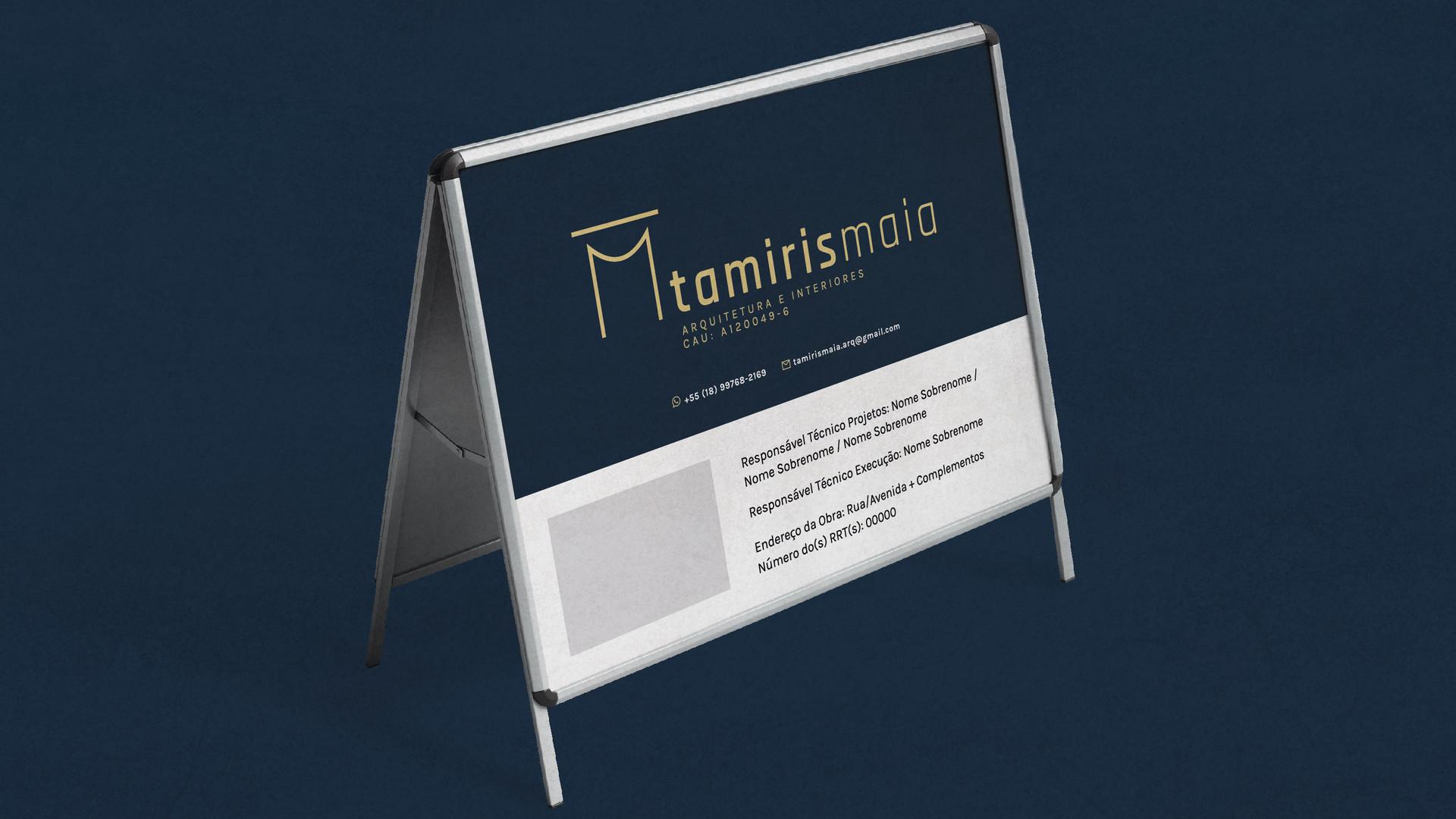 Tamiris Maia Arquitetura - Placa de Obra