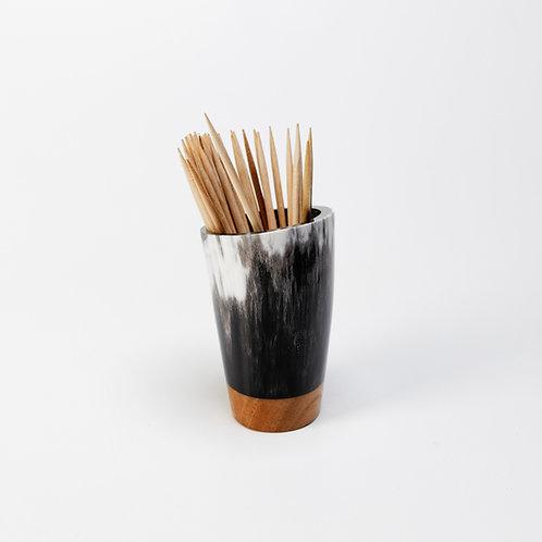 Pot à piques en corne et merisier (ref. pp5)