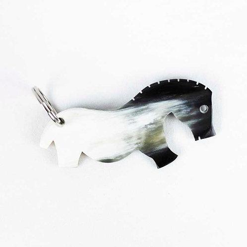 """Porte-clés """"cheval de Vogelherd"""" en corne (ref.PCC1)"""