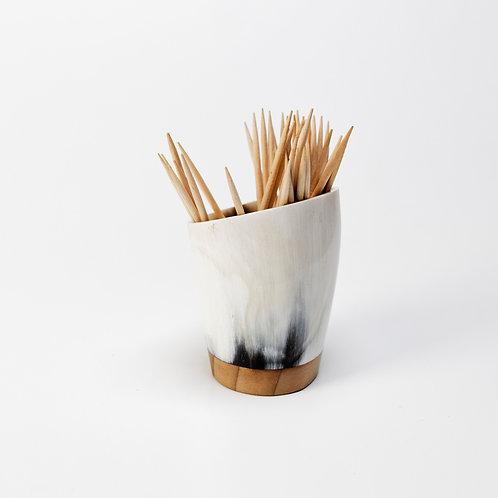 Pot à piques en corne et cèdre (ref. pp3)