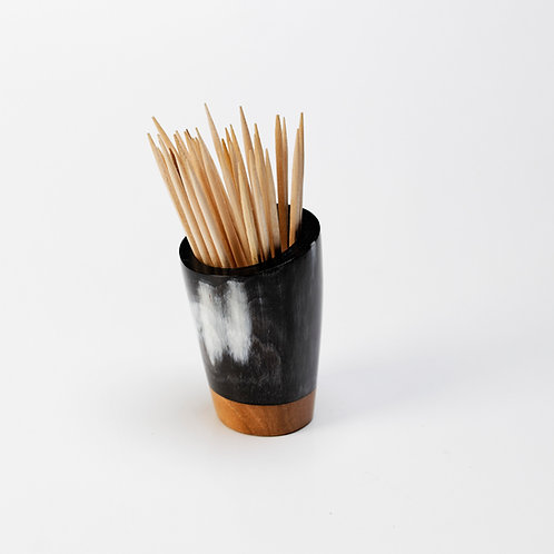 Pot à piques en corne et merisier (ref. pp6)