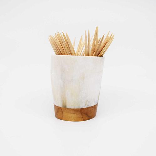 Pot à piques en corne et peuplier (ref. pp8)