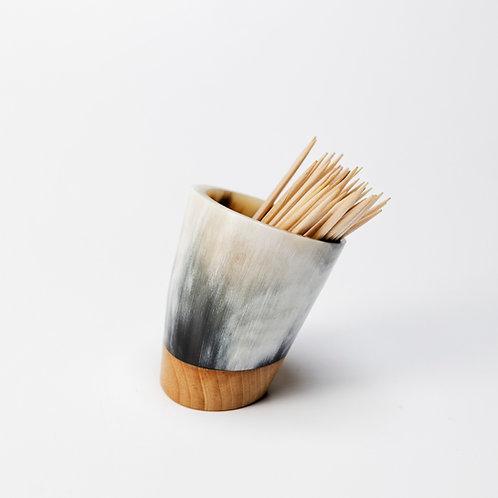 Pot à piques en corne et peuplier (ref. pp1)