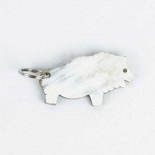 """Porte-clés """"Bison de Niaux """" en corne (ref.PCC4)"""