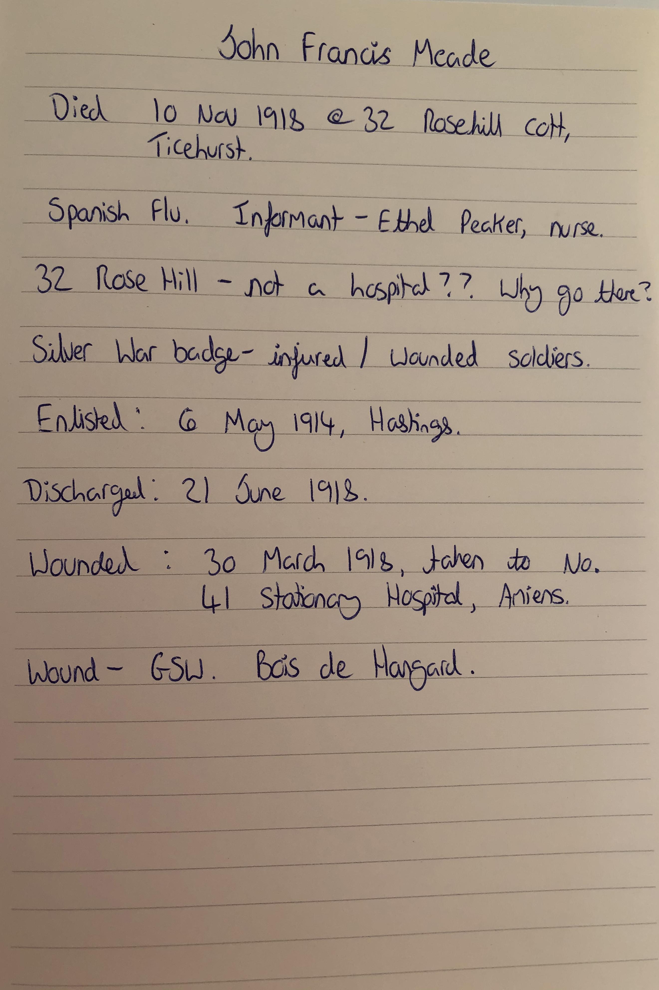 John notes