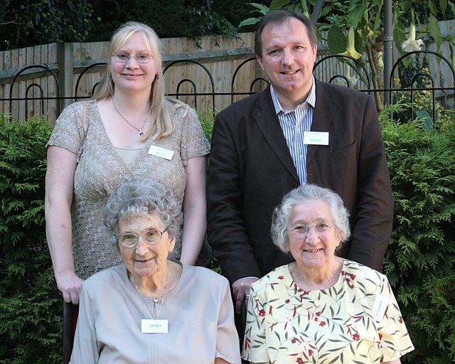 Dora Chandler (left, seated), Eileen Stevens (formerly Chandler) and Nigel Stevens