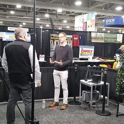 Me being interviewed by #Rootstech peeps