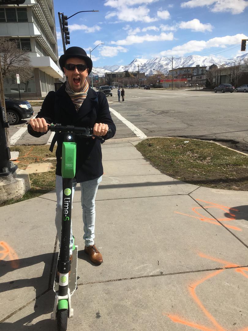 Nathan Dylan Goodwin on a Salt Lake City