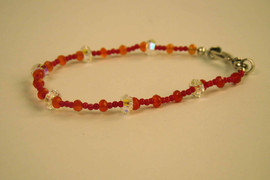 Carnelian with Swarovski crystals