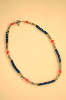 Whimsical beaded necklace