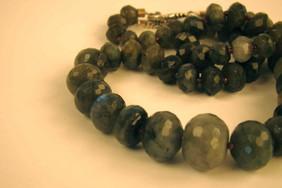 Labradorite graduated necklace