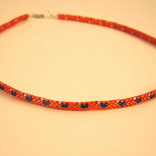Tube necklace from size 11 delica beads