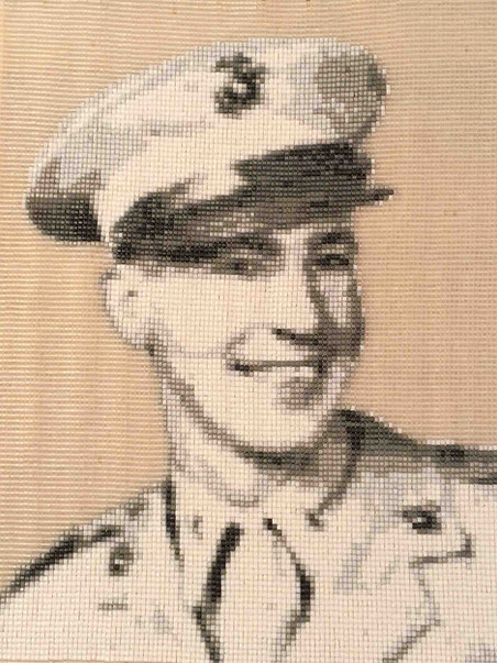 Tapestry of Jack Lescure, WWII Veteran