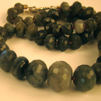 Graduated Labradorite necklace with silver findings