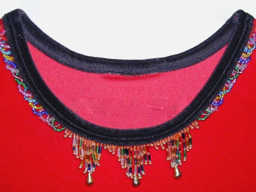 Embellishment for satin dress