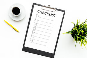 Blank checklist with space for ticks on