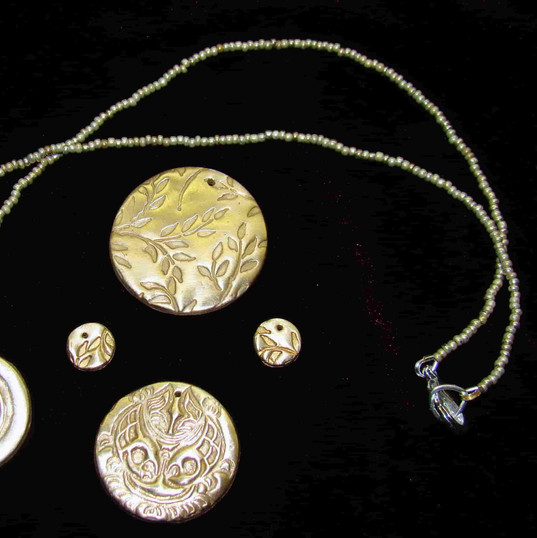 Precious metal clay pendants