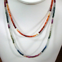 Fire Opal and Sapphire necklaces