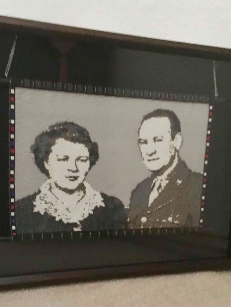 Tapestry of my grandparents, Dolly and Chester Kenney