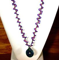 Size 15 seed bead swirl