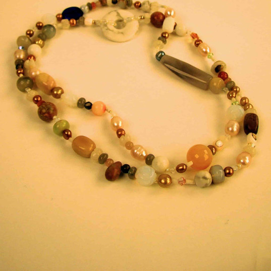 Mixed stone necklace from vintage strand