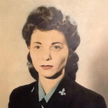Photograph for tapestry of my mother-in-law, Doris Jacobson Neuren