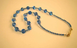 Blue Swaroski crystal necklace