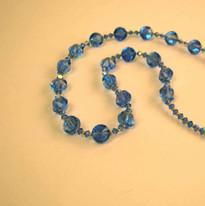 Blue Swarovski necklace