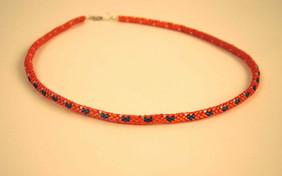 Brick stitch tubular necklace
