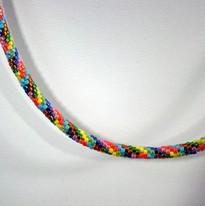 Delica Multi-colored Beads Tube necklace