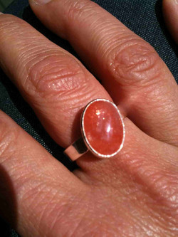 Carnelian Ring in Silver setting