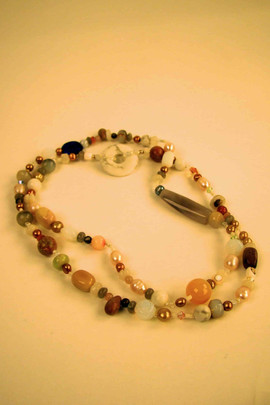 Vintage beads opera length necklace