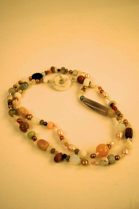 Vintage beads opera length necklace