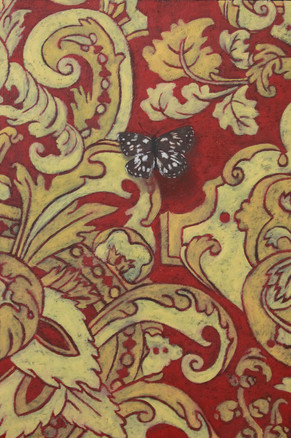 Red And Gold Marbled White
