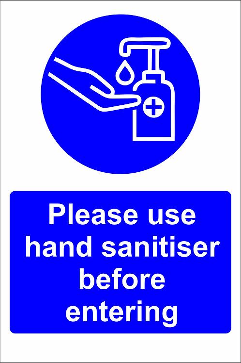 Please Use Sanitiser (D)