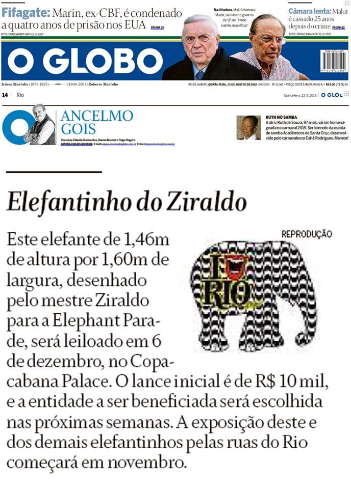 Elephant Parade Rio (Agosto/2018)