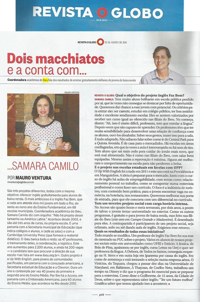 IBEU - Revista O Globo