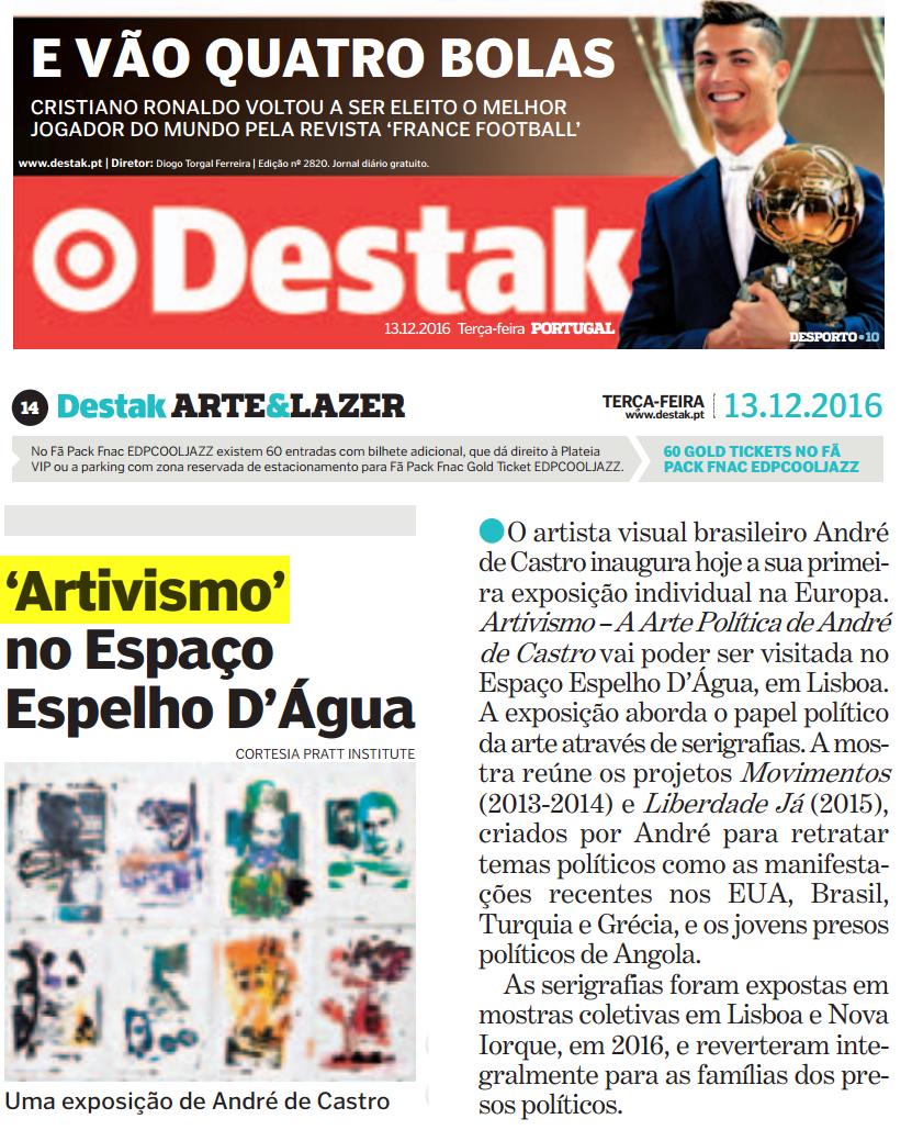 """""""Artivismo"""" - Exposição em Lisboa"""
