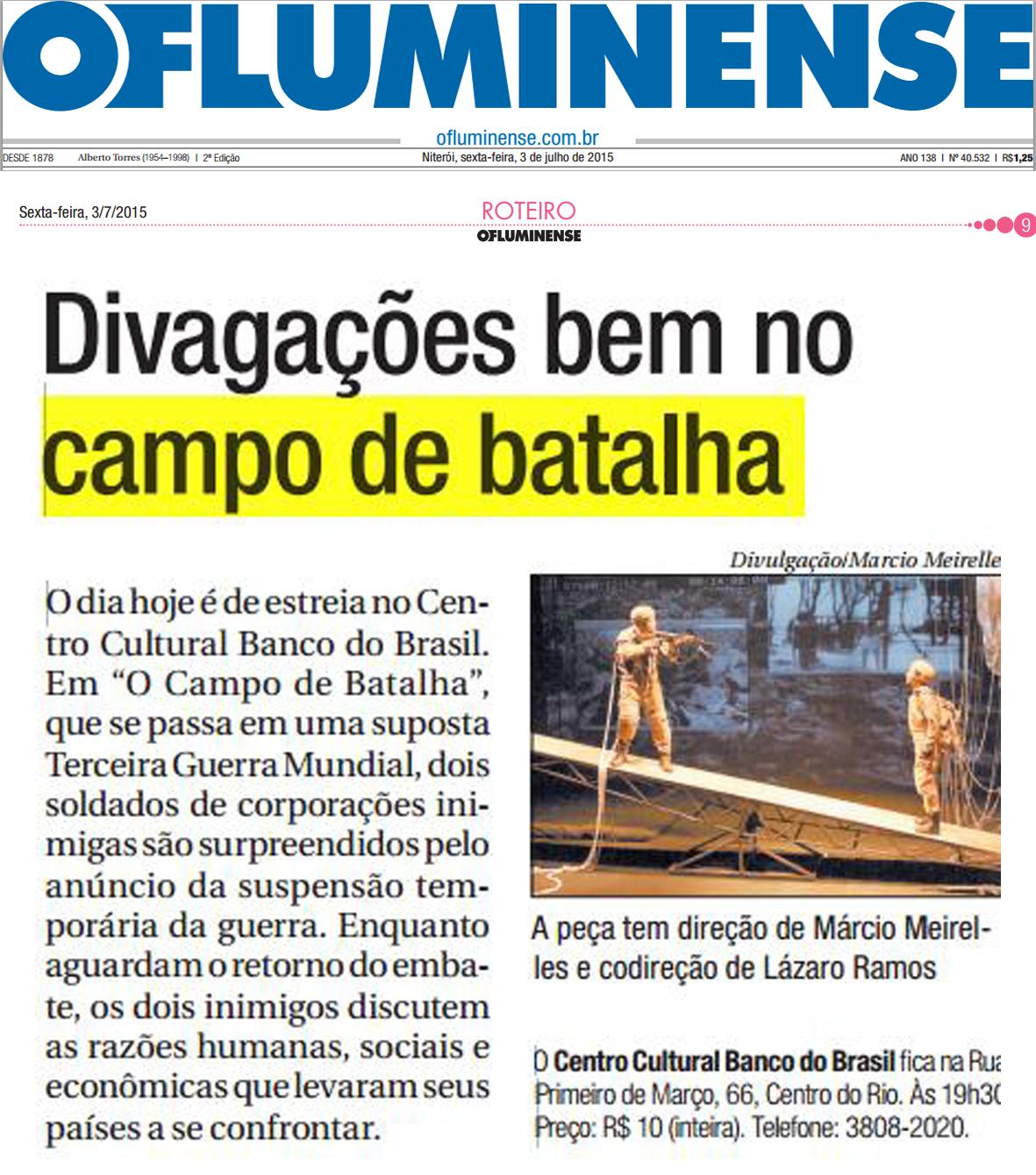 O Campo de Batalha - O Fluminense