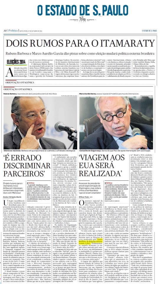 CEBRI - O Estado de S. Paulo