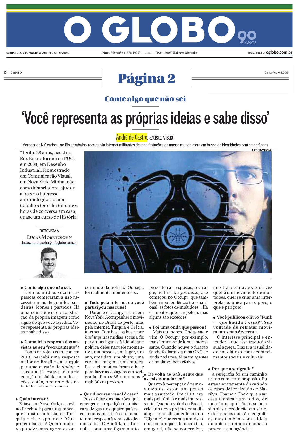 """""""Movimentos"""" - O Globo"""