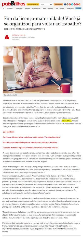 Manu Maia - Pais & Filhos Online