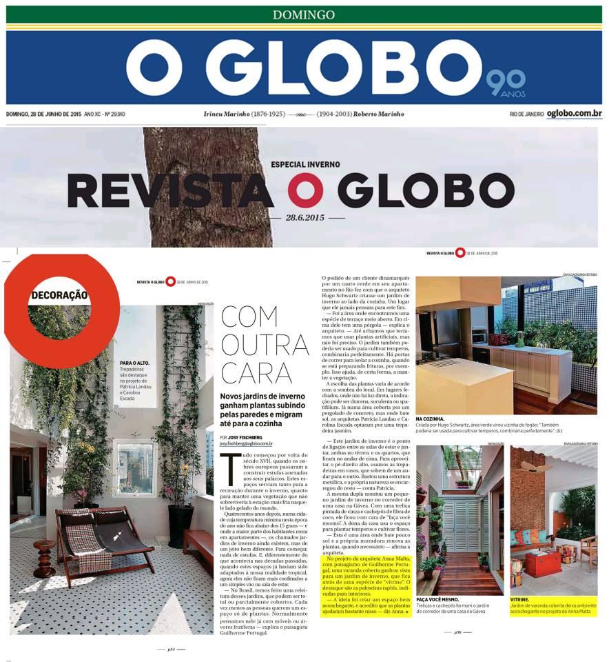Anna Malta - Revista O Globo