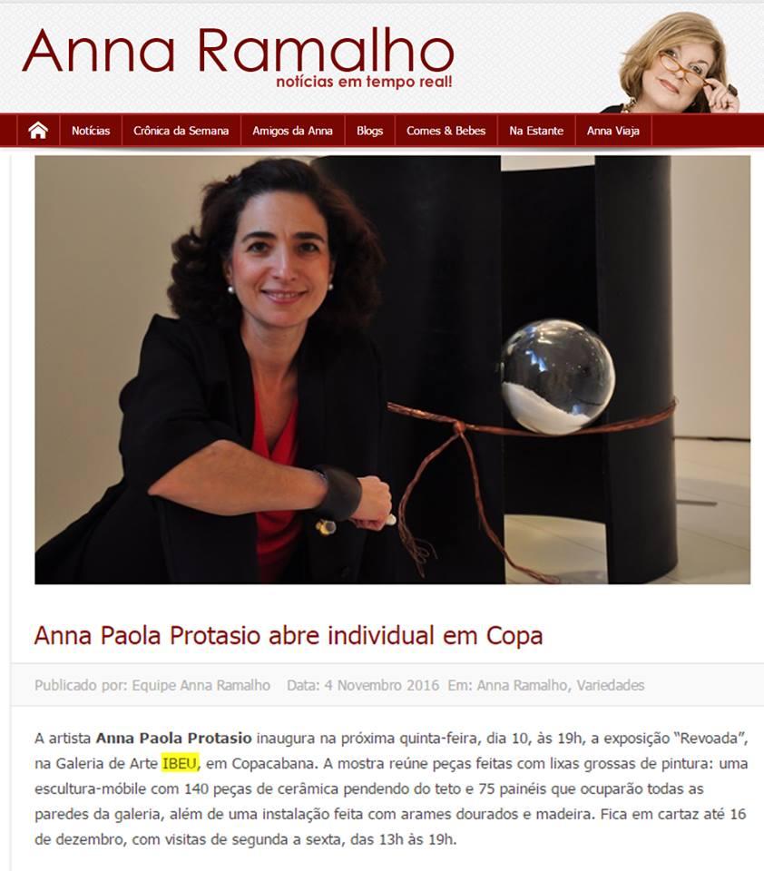 Galeria de Arte IBEU - Anna Ramalho