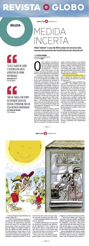Dra. Carolina Pontes - Revista O Glo