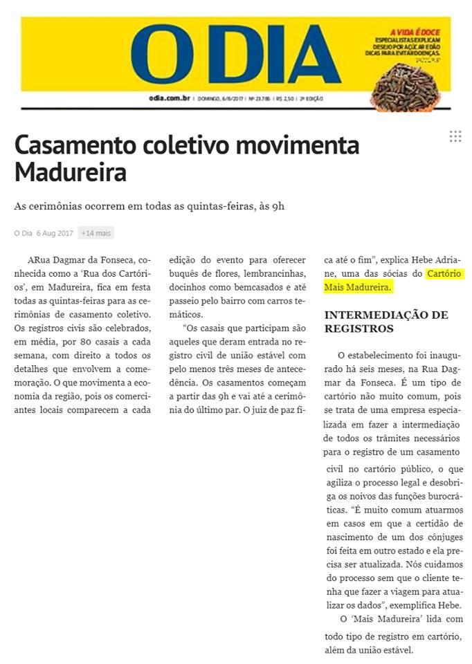 Cartório Mais Madureira (Agosto/2018)
